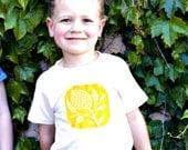 thistle organic tee - lemon/natural - toddler boy or girl tshirt - 2-3 years - SALE