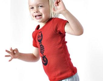 horse brass tee - red/black - toddler girls 2T/3T/4T - ultra-soft short sleeve t-shirt top SALE