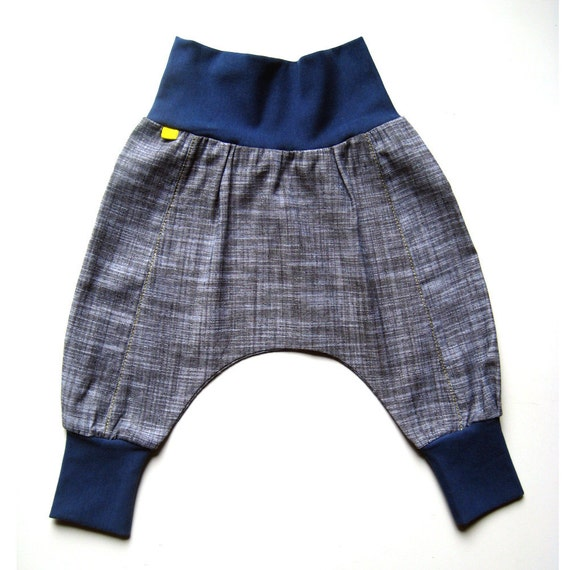 downtown aladdin pants - baby - black marl/royal - unisex boy/girl - all sizes