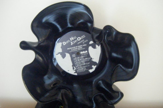 Hall & Oates recycled record bowl