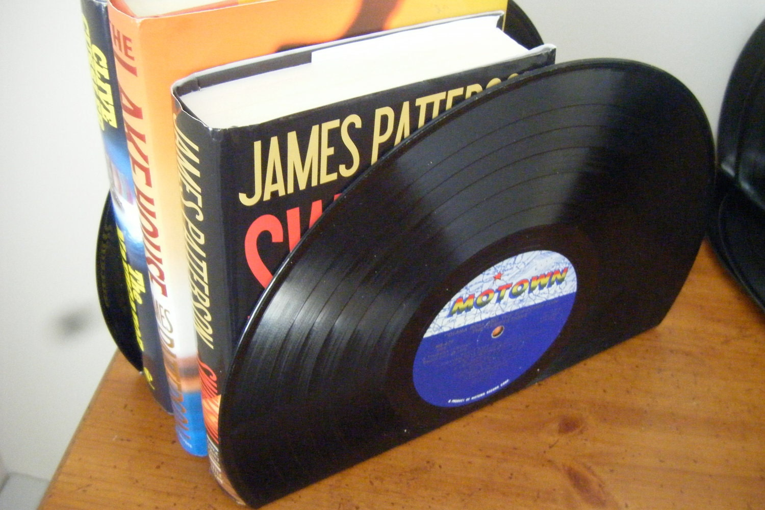 Motown Bookends Upcycled Record Albums