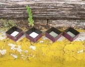 Purple tea light candle holder, unisex gift, industrial decor, rustic votive holder
