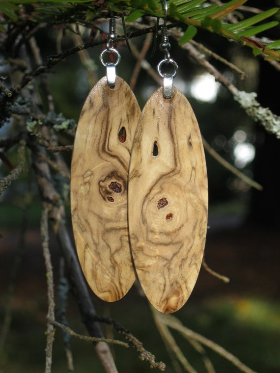 The Swirl In The Burl Buckeye Earrings That Are Amazingly Lightweight