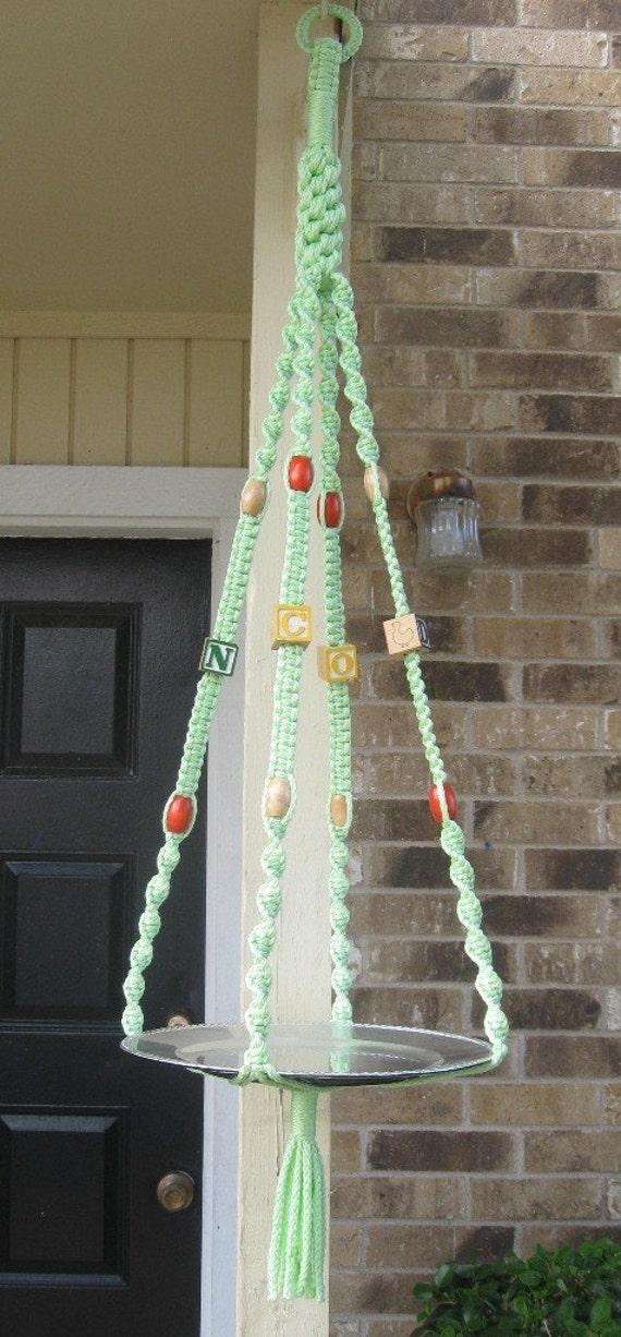 Baby macrame hanger