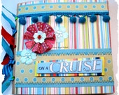 On a CRUISE - Tropical - 6 x 6 - Premade Scrapbooking Mini Paper Bag Album