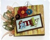 FAMILY - 6 x 6 - Premade Scrapbooking Mini Paper Bag Album