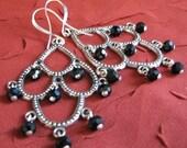 Swarovski Crystal Chandelier Earrings - Jet Setting