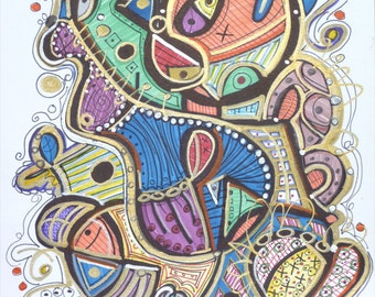 Soul Of Belly - Modern Abstract Art - Drawing by Kim Dean