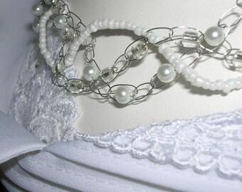 Unique Wedding  2 - Crocheted necklace