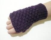 Violet Fingerless Gloves