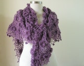 RESERVED for Brightflame Purple Shawl