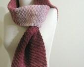 Colorful Knit Scarf Pink Burgundy Garnet