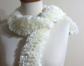 Cream Knitting Scarf New Ivory