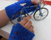 NEW Sapphire Blue  Fingerless Gloves Cobalt Fresh