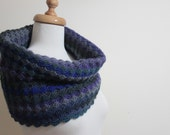 EXPRESS DELIVERY,  Infinity Cowl Mittens Gloves, Lace Fashion Blue Purple Colorful Dark Cobalt Blue Winter Fall Trend - Holiday Fashion