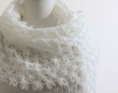 Wedding Ivory Shawl, Lace Shawl Scarf, Mother Day Bride Bridal Shawl Wrap