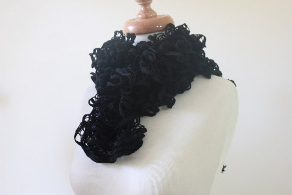 Black Knitting Scarf READY TO SHIPPING