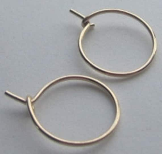 Small gold filled hoops earrings
