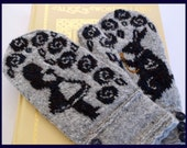 Alice in Wonderland Mittens knitting pattern (PDF)