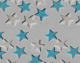 Mini Stars Fondant Cupcake Toppers or Cake Decorations