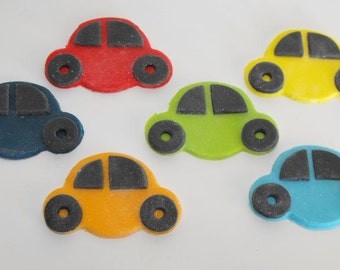 Car Fondant Cake or Cupcake Toppers