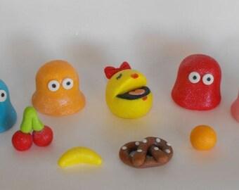 Ms Pac Man Cupcake or Cake Topper