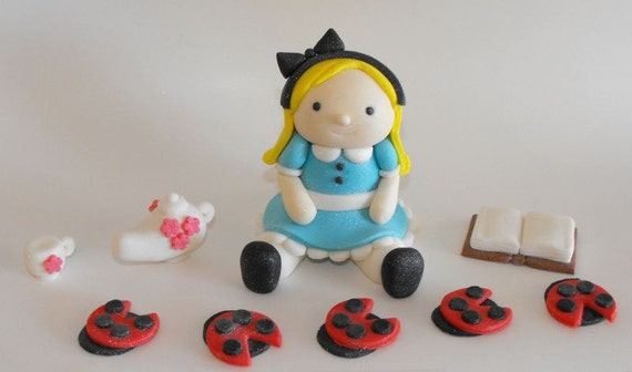 Alice in Wonderland Cake Toppers Alice in Wonderland Cake