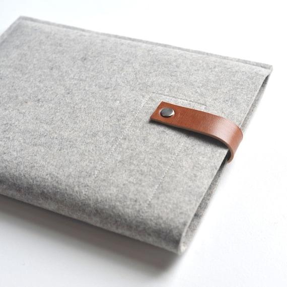 Ipad Sleeve - Wool Felt and Leather