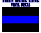 Two Thin Blue Line Decal Stickers Police Sheriff FOP