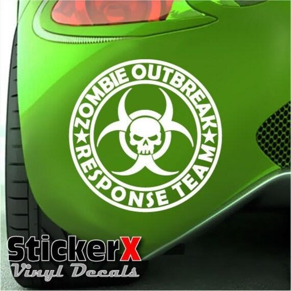 ZOMBIE OUTBREAK RESPONSE Team  Skull Logo Vinyl Car Decal Sticker