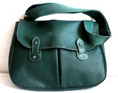 PAQUETAGE French Vintage Green Messenger Bag / Satchel