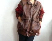 FACONNABLE French Vintage Leather Jacket /  FREE SHIPPING