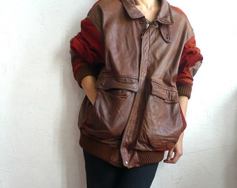 FACONNABLE French Vintage Leather Jacket