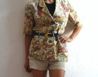 TINA French Vintage Vintage 80s Floral Layer Blouse