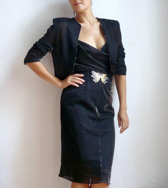 GARDENIA French Party Dress with Bolero