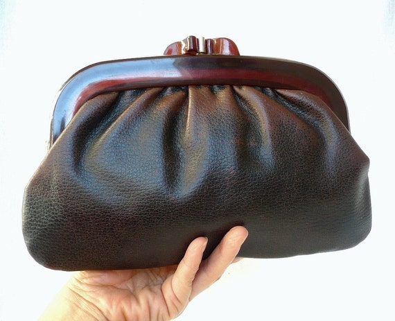 JOAN French Vintage 50s Maxi Wallet Clutch