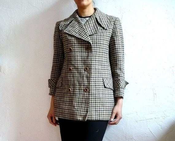 ALIX French VIntage 70s Double Breasted Wool Coat
