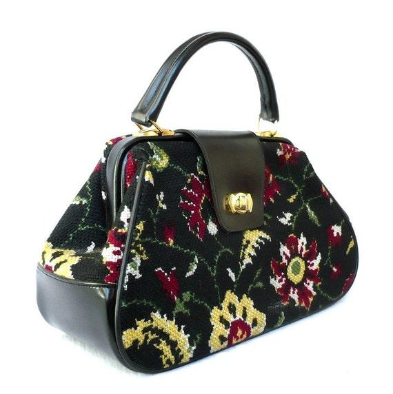 reserved for IBUK   LILY French Vntage Tapestry Docter Bag/Handbag
