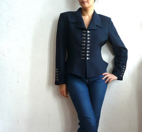 reserved for mydollsvintagecloset  EXTENZO Vrench Vintage 80s Fitted Jacket