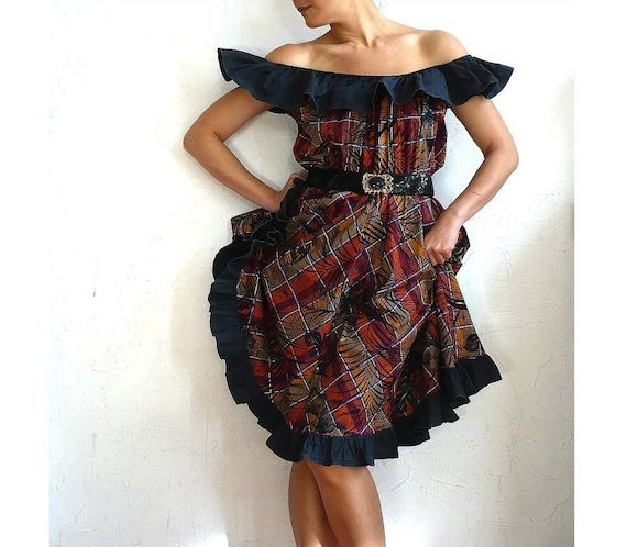 GYPSIE French Vintage 70s Ruffles Cotton Dress