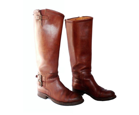 BUTTERO Italian Vintage Brown Leather Boots