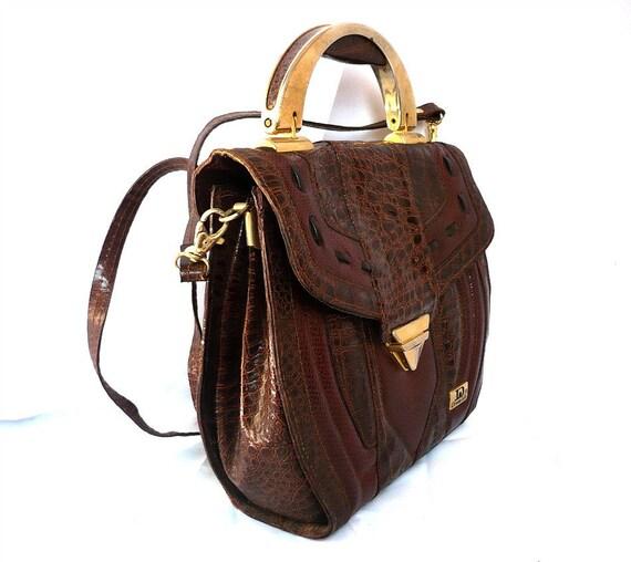 DONNA LISA Italian Vintage Leather Handbag