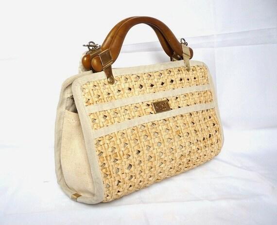MODA FRench Vintage Woven Handbag/Shoulder Bag