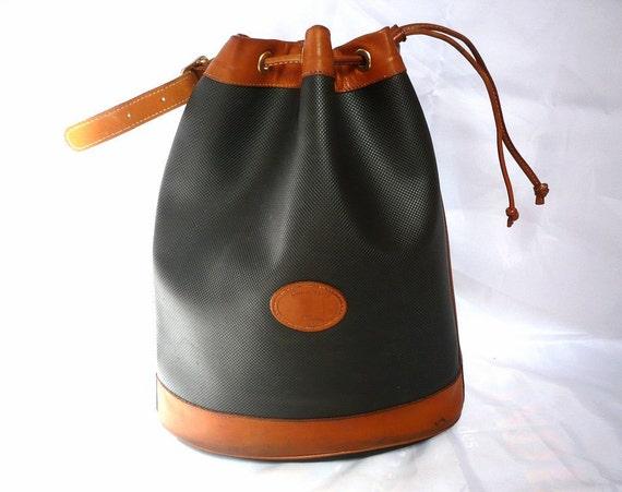 LONGCHAMP French Vintage Draw String Tote/ Shoulder Bag