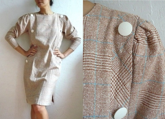 COSTAS French Vintage 60s Light Tweed Day Dress