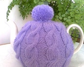 Traditional English Cable Hand knit tea cosy