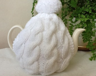 Elegant White 4/6 Pot Tea Cosy