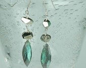 No Fool earrings - labradorite dangles
