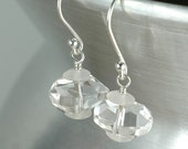 Cool Rocks - drop earrings sterling silver and rock crystal quartz