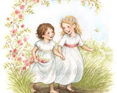Daisy and Rose - Art Print